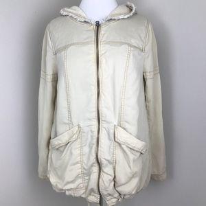 Free People Hooded Zip Up Anorak Utility Jacket